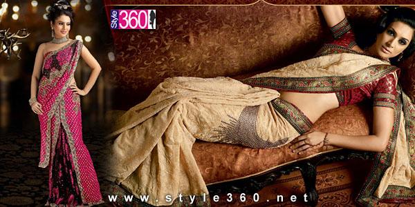 lehenga style saree designs