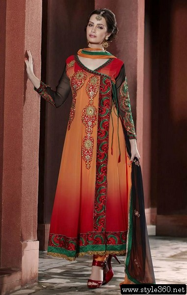 Latest Angrakha Style Dresses Collection