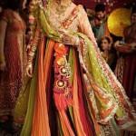 New Bridal Mehndi Dresses 2015