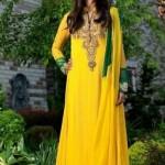 Bridal Yellow Mehndi Dresses