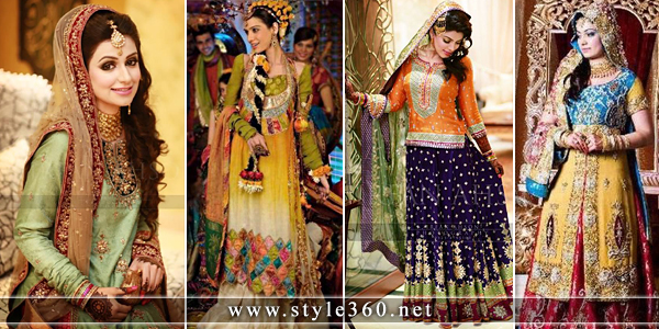 Latest Bridal Mehndi Dresses 2015-2016 for Brides