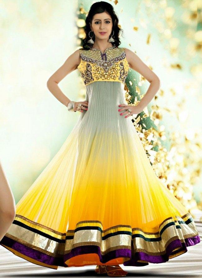 Latest Mehndi Dresses Designs 2016