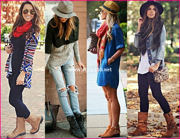 Combat Winter Boots Fashion