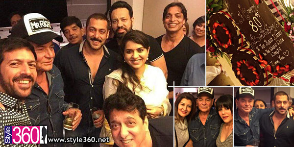 Shoaib Akhtar spotted at Salman Khan's party