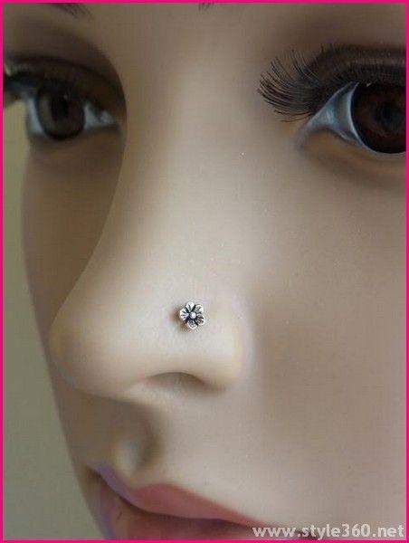 Small Stone Nose Pin Design Fashion Tubes
