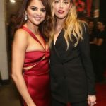 Actress Amber Heard and Singer Selena Gomez Backstage
