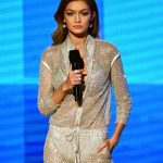 Co-host Gigi Hadid speaks onstage during the AMA's 2016