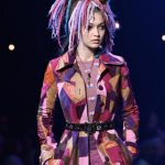 Model Gigi Hadid walks the runway at the Marc Jacobs fashion show