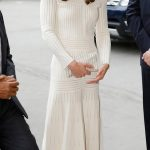 Kate wowed in a white off the shoulder Barbara Casasola dress