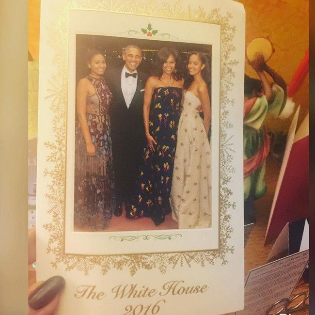 Obama Happy Family Christmas card