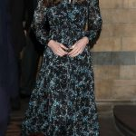 kate middleton black and blue printed L.K. Bennett dress
