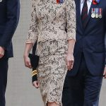 kate middleton elegant lace peplum dress and black fascinator