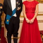 Kate Middleton with Prince William Diplomatic Corps reception