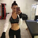 Bella Hadid Workout Clothes Selfie