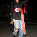 Rihanna Red Belt