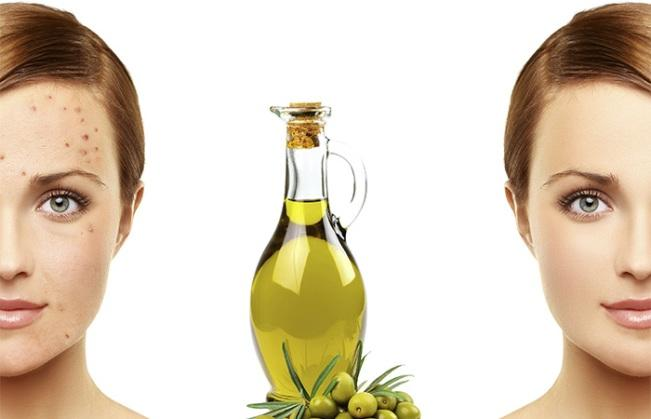 Olive oil on face for dry skin