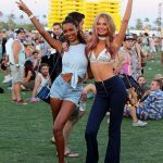 Romee Strijd & Jasmine Tooks Coachella Style