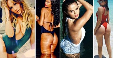 Celebrity Stars Wearing One Piece Swimsuits