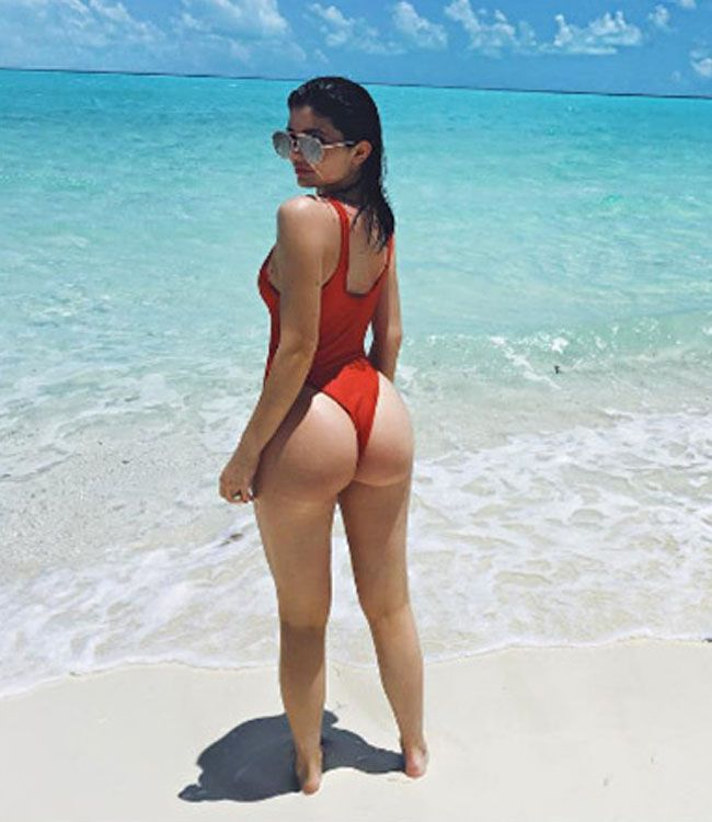 Kylie Jenner Wearing One Piece Swimsuit