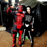 ALESSANDRA AMBROSIO and JAMIE MAZUR in Halloween Costumes 2017
