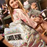 Grace Elizabeth Backstage at Victoria's Secret Fashion Show 2017