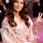 Lily Aldridge Backstage at Victoria's Secret Fashion Show 2017