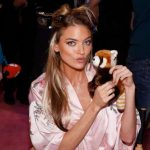 Martha Hunt Backstage at Victoria's Secret Fashion Show 2017