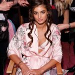 Taylor Hill Backstage at Victoria's Secret Fashion Show 2017