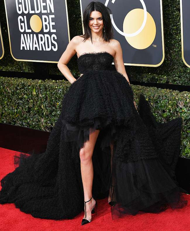 Kendall Jenner Golden Globe Awards Best Dressed