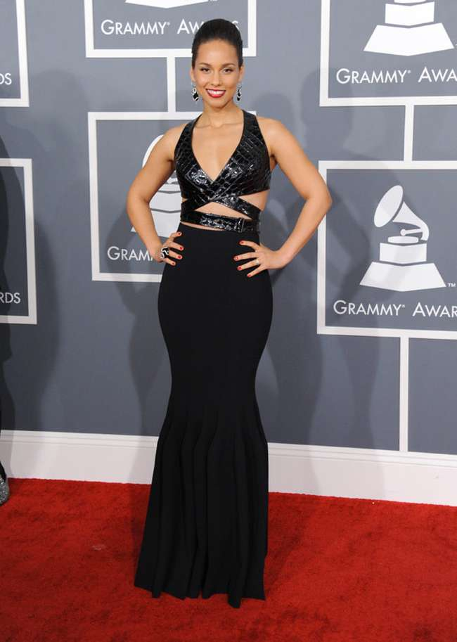 Alicia Keys Sexiest Grammy Dresses