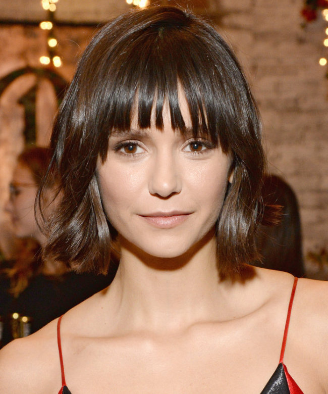Nina Dobrev in Bob and Bangs Sexiest Haircut