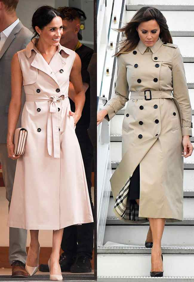 Meghan Markle and Melania Trump Trench Coat