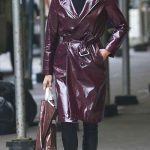 Yolanda Foster Trench Coat Picture