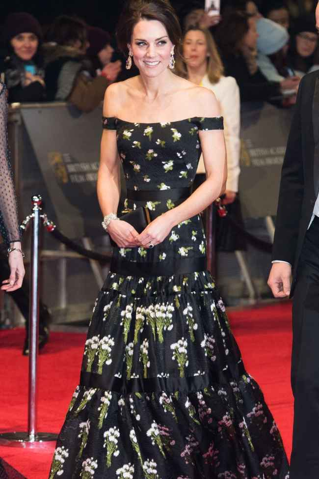 Kate's Off the shoulder gown Dress for Iconic Royal Styles